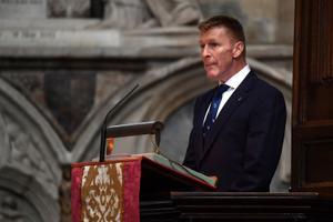 Matusel pidas teiste seas kõne ka Briti astronaut Tim Peake