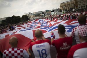 Horvaatia fännid Moskvas