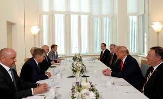 Niinistö ja Trumpi kohtumine Mäntyniemis.
