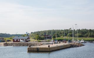 Estonian Prime Minister Jüri Ratas on Ruhnu island on Thursday.