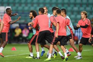 Madridi Reali treening enne Superkarikat.