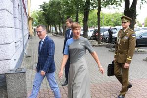 President Kersti Kaljulaid saabus Narva