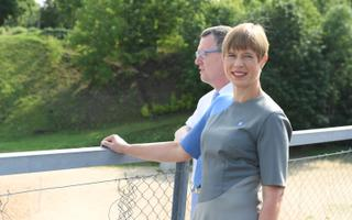 President Kersti Kaljulaid on a previous visit to Narva in August 2018.