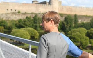 President Kersti Kaljulaid in Narva this summer.