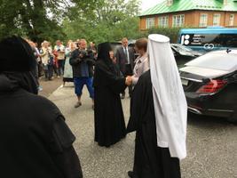 Президент посетила Пюхтицкий монастырь