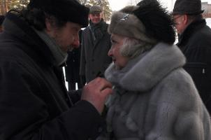 Roman Baskin koos ema Ita Everiga filmivõtetel