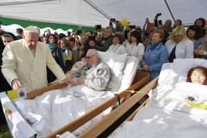 Paavst külastas Vilniuses erivajadusega inimesi. September 2018
