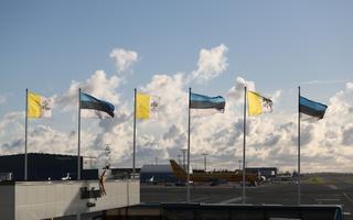 Tallinn Airport prepared for the Pope's arrival. 25 September 2018.
