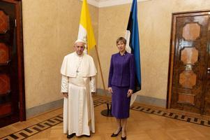Paavst Franciscus ja president Kersti Kaljulaid