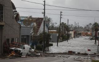 Orkaan Michaeli purustused Panama Citys Floridas