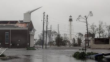 Orkaanis kahju saanud baptistide kirik Port St Joes