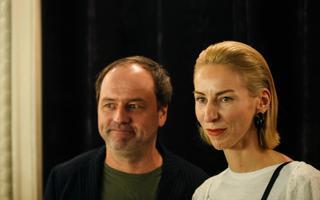 Marianne Kõrver ja Tõnu Kõrvits dokumentaalfilmi esilinastusel.