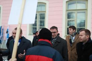 EKRE meeleavaldus Toompeal ja valitsuse liikmed Sven Mikser ning Rene Tammist