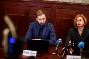 Riigiprokurör Marek Vahing ja riigi peaprokurör Lavly Perling