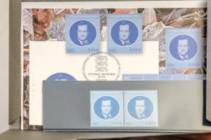 Toomas Hendrik Ivlesele pühendatud postmargi esitlus.