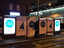 Eesti 200 uued valimisreklaamid Hobujaama trammipeatuses