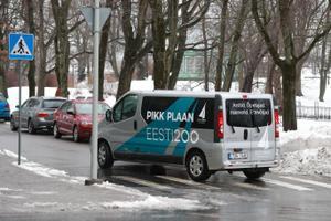Eesti 200 buss tänavu märtsis valimiskampaania ajal.