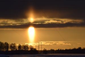 Külm ilm, nn päikeseküünal