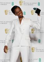 Londonis selgusid 72. Briti filmiauhindade võitjad. Pildil näitleja Letitia Wright.