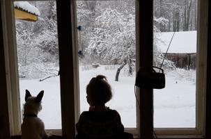 Sadu ja Herta kuulavad Vikerraadiot Veneveres Viljandimaal.