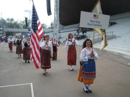 The New York Estonian Women's Chorus at the Song and Dance Festival parade in 2009.