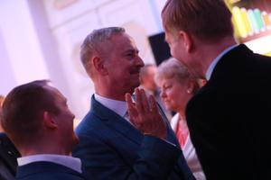 Reformierakondlased valimisvõitu tähistamas, Siim Kallas