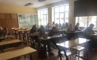 Õpilased Kohtla-Järve koolis.