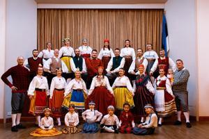 The London, UK-based folk dance troupe Estonian Folks International.
