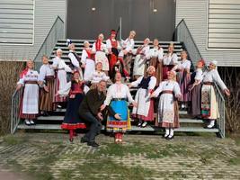 Nootdorp, Netherlands-based folk dance troupe Tuuletütred. February 2019.