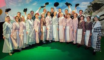 Espoo, Finland-based folk dance troupe Ülelahedad in 2016.