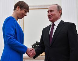 President Kaljulaid ja president Putin Moskvas.
