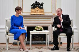 Presidents Kaljulaid and Putin meet in Moscow, 18 April 2019.