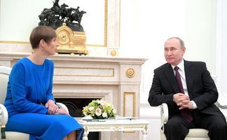Kaljulaidi ja Putini kohtumine Moskvas.
