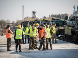 The incoming French contingent's equipment, vehicles arrived in Tapa via rail on Wednesday. 24 April 2019.