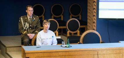 Kersti Kaljulaid riigikogus valitsuse ametivande ajal-.