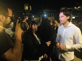 Виктор Крон на приеме у мэра Тель-Авива.