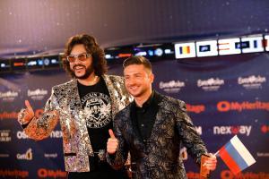 Eurovisiooni oranž vaip, Venemaa esindaja Sergei Lazarev  ja Filipp Kirkorov