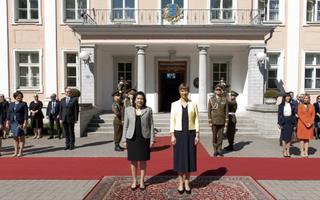 Georgian President Salome Zourabichvili in Estonia. May 16, 2019.
