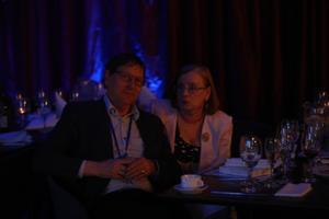Jüri Trei ja Ann Räämet Isamaa valimispeol.