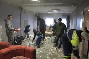 Kogukonnakeskuse ülesehitustöödele eelnes korralik lammutamine.