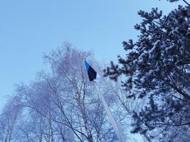 24.veebruar. Lipp heisatud hümni saatel.