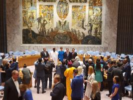 Kohtumine pressiga pärast Eesti saamist ÜRO julgeolekunõukogu liikmeks.