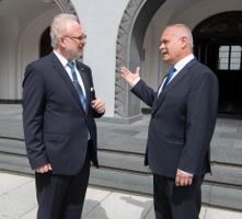 Läti president Egils Levits kohtus riigikogu spiikri Henn Põlluaasaga.