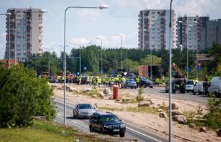 'Tenet' filming on Laagna Road in Lasnamäe. Thursday, July 25, 2019.