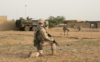 Eesti jalaväerühm Malis ühisoperatsioonil.