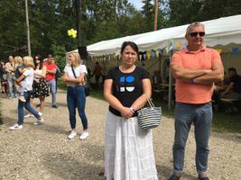 Kaja Kallas at the Reform Party summer days event.
