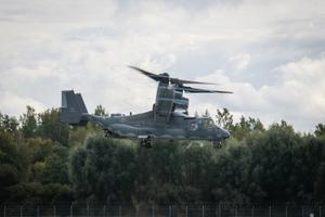 Bell Boeing V-22 taking off from Tallinn Airport on Saturday.