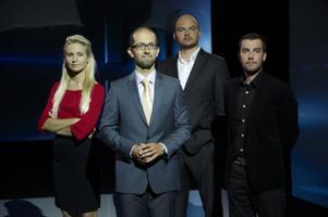 Toimetaja Piret Järvis, saatejuht Mihkel Kärmas, toimetaja Rasmus Kagge ja kaasautor Roald Johannson.
