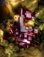 13. koht. Kupriit ehk vaskoksiidist koosnev mineraal, (20X suurendus).