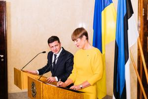 Ukraina president Volodõmõr Zelenski Eestis